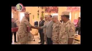 بالفيديو.. جولة لوزيري الدفاع والداخلية بشمال سيناء