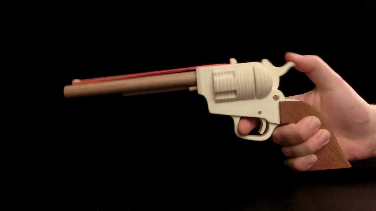 Colt SAA Rubberband Gun [HD] - YouTube