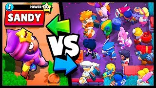 SANDY GAMEPLAY 1v1 ALL BRAWLERS - New Brawl Stars Update