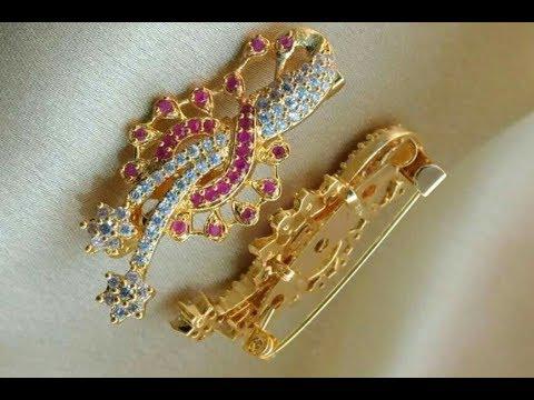 41e4faa28 Latest Designer saree pin || brooch collections - YouTube