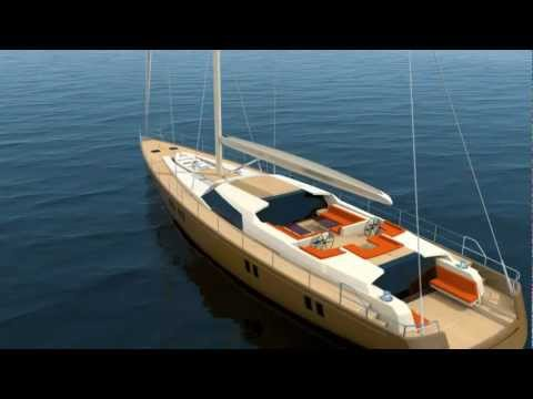 3d Animation Sail Boat Exterior