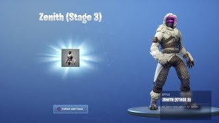 "*NEW* STAGE 3 ""ZENITH"" MASK UNLOCKED! Fortnite Season 7 Battle Pass Skin Upgrade Tier *"