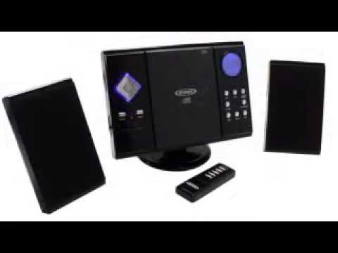 Jensen JMC 180 Wall Mountable Compact Stereo System With Remote