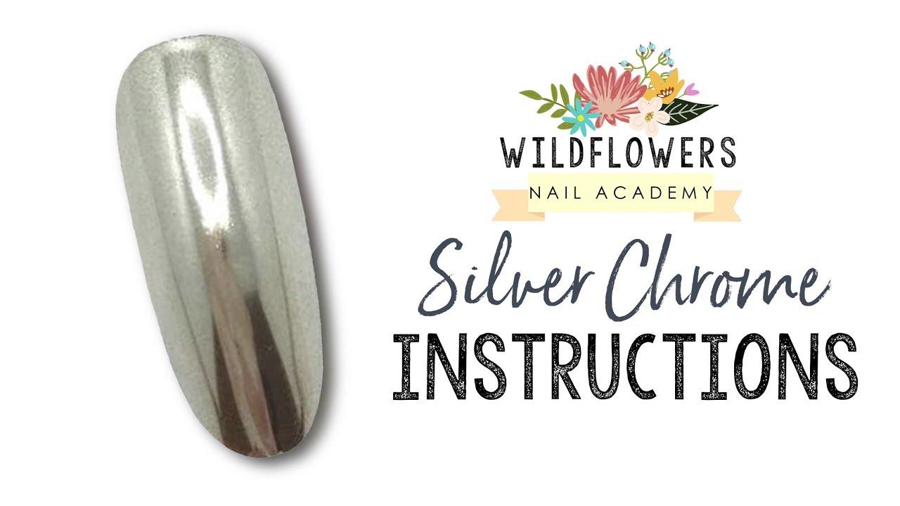 Wildflowers Chrome Lication Nail Academy