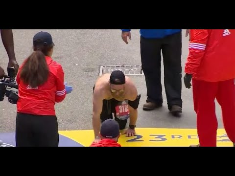 Tony Sandoval on The Breeze - U.S. Marine Crawled Across the Finish Line in Honor of His Fallen Soldiers