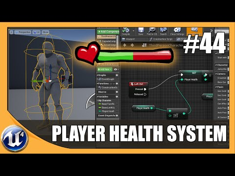 Creating Player Health System - #44 Unreal Engine 4 Beginner Tutorial Series
