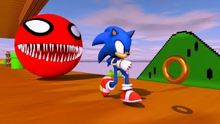 Pacman Spider Vs Sonic Battle In Super Mario World