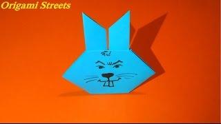 Как сделать зайца из бумаги. Оригами заяц из бумаги