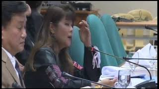 Sen. Imee Marcos attended the hearing by the Comm on Urban Planning,Housing&Resettlement on Aug 5.