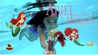 Mermaid Princess Ariel and Sisters Swimming Water Toy Unboxing | Toys Academy