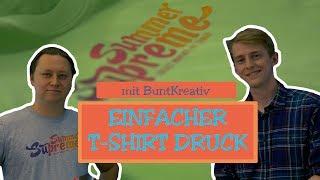 T-SHIRT DRUCK mit Buntkreativ | Verlosung