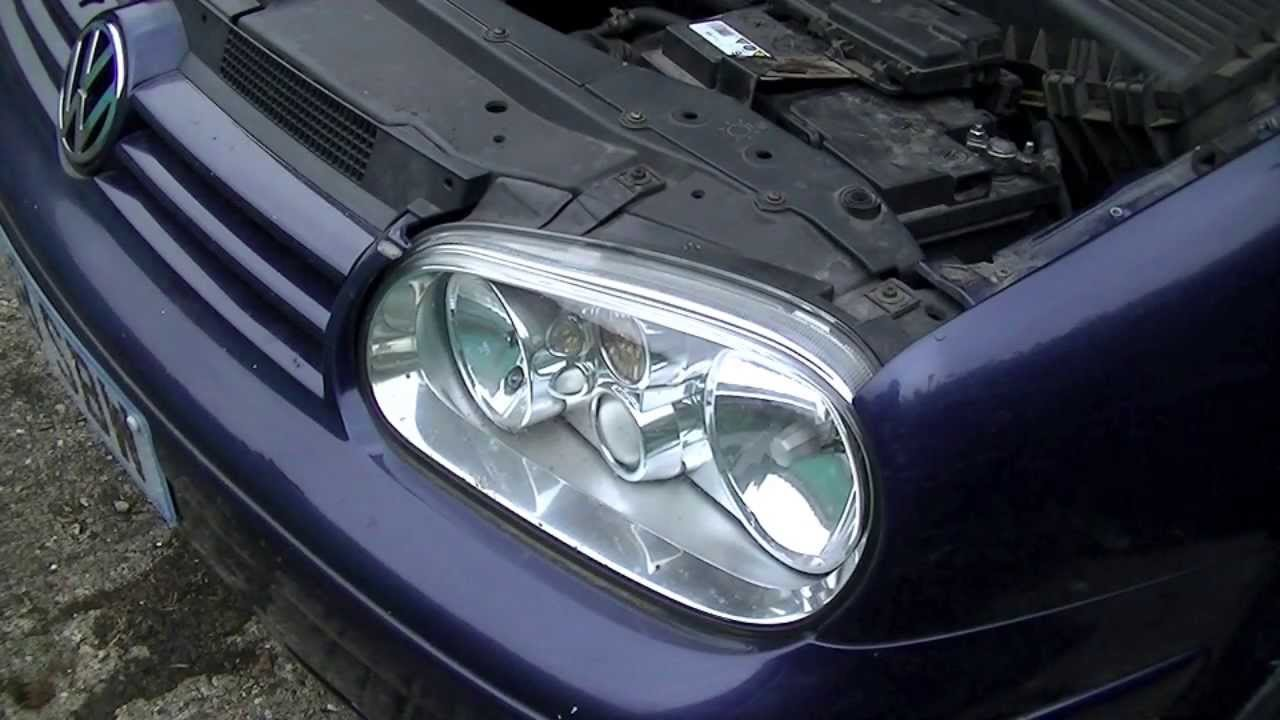 Vw Golf Jetta Mk4 Headlight Bulb Replacement 1999 2005