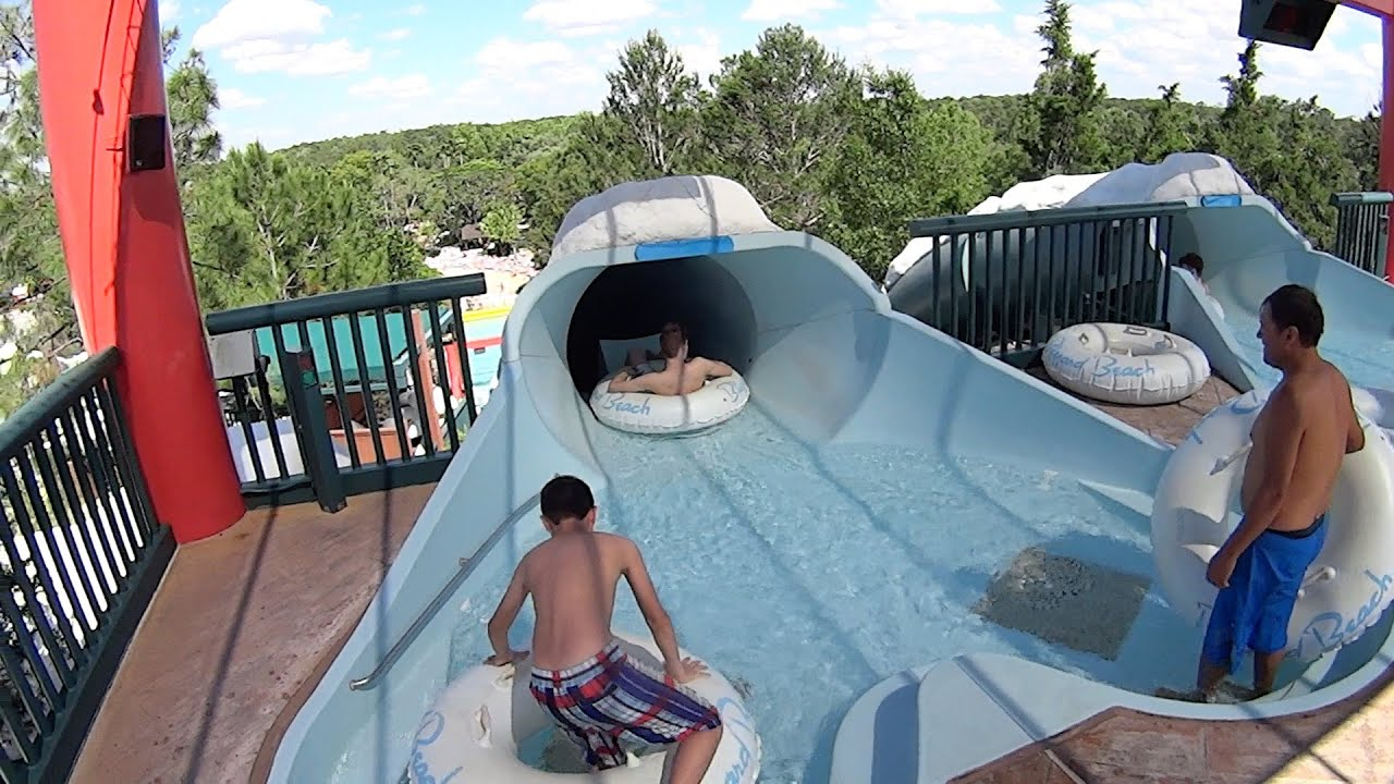 Downhill Double Dipper Water Slide At Disney S Blizzard Beach Youtube