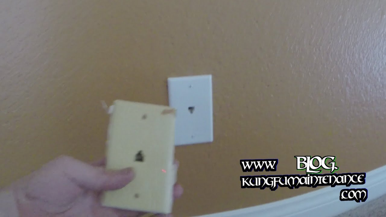 how to change out tired telephone wall jack replace plate outlets repair video youtube [ 1920 x 1080 Pixel ]
