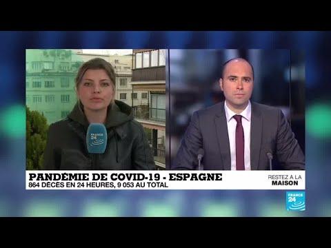 Pandémie de Covid-19: Triste record en Espagne, 864 décès en 24 heures