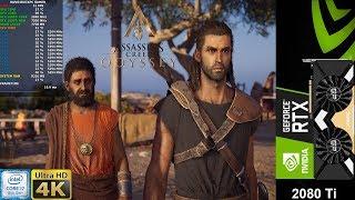Assassin's Creed Odyssey 4k Ultra High Settings | RTX 2080 Ti | i7 8700K 5.3GHz