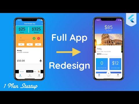 Full App Redesign Using Flutter