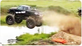 Monster Truck Mud Jump Win | Redneck Truck Washing