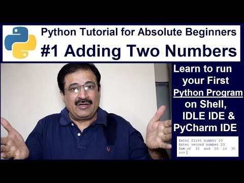 Python Tutorial for Absolute Beginners #1 Adding Two Numbers thumbnail
