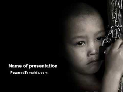 Childrens rights labor powerpoint template by poweredtemplatecom youtube for Poweredtemplate