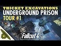MINUTEMEN UNDERGROUND PRISON at Thicket Excavations | Huge Fallout 4 settlement tour - PART 1
