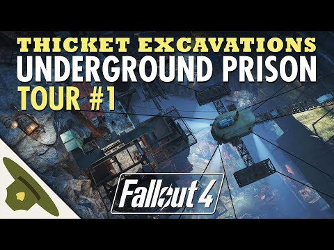 MINUTEMEN UNDERGROUND PRISON at Thicket Excavations   Huge Fallout 4 settlement tour - PART 1 thumbnail