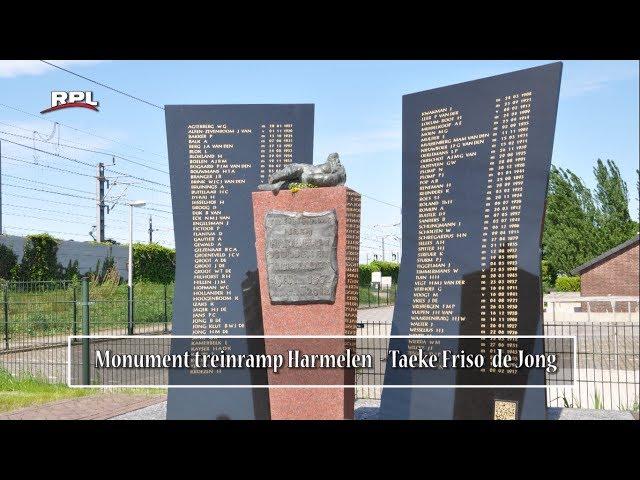 Beelden in Woerden: Monument treinramp Harmelen