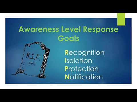 HazMat Awareness Level training - for EMS