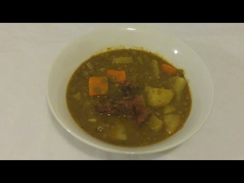 Lentils With Smoked Pork Soup-Episode 55