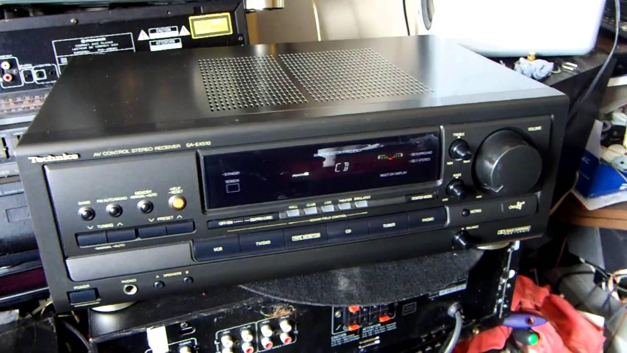 Technics av control stereo reciever sa-ex500 youtube.