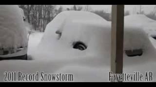Schnee Sturm im Zeitraffer