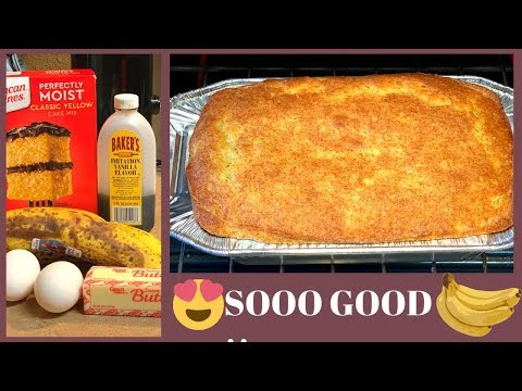 QUICK AND EASY BANANA BREAD /QUICK AND EASY BANANA BREAD USING A YELLOW CAKE MIX/