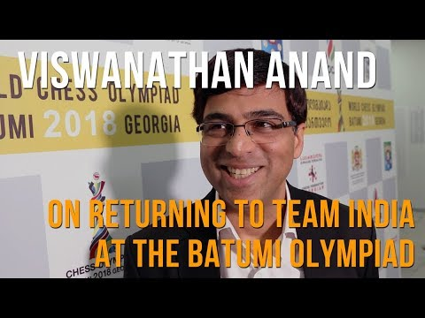 Viswanathan Anand on returning to team India at the Batumi Chess Olympiad Mp3