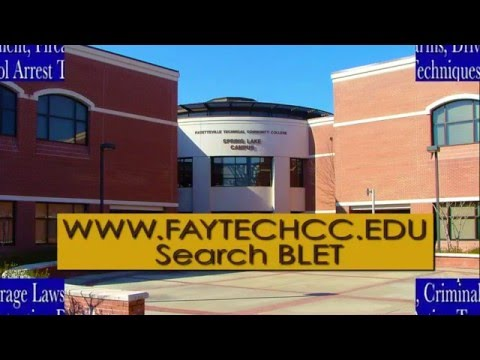 BLET program at Fayetteville Technical Community College