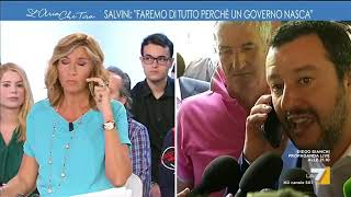 Intervista telefonica Myrta Merlino-Salvini