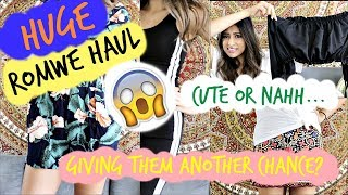 HUGE ROMWE HAUL | TRY ON | FIRST IMPRESSION | PART 2