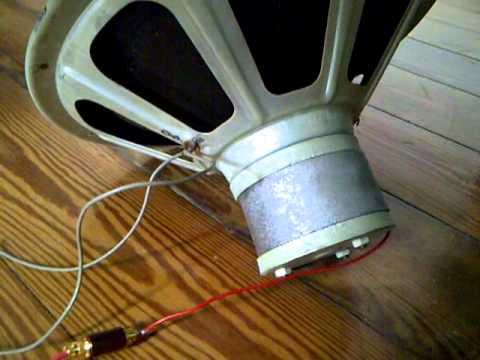 "Philips AD 1255 M7 12"" Vintage Alnico Fullrange Speaker"