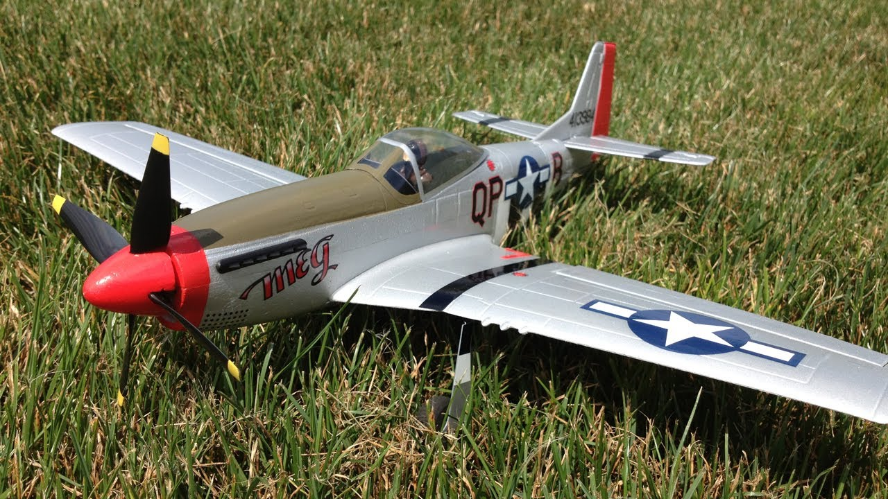 Parkzone Ultra Micro P-51 Mustang BNF WWII Warbird RC Plane with AS3X  playing in the wind