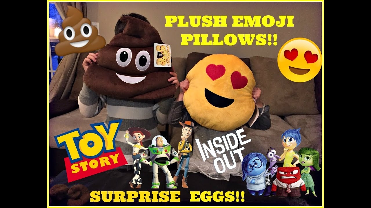 Toy Story Stool : Plush emoji poop heart eyes pillows toy story inside