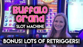 Buffalo Grand!! Slot Machine!! Max Bet BONUS!! The Coins Were Hitting!!