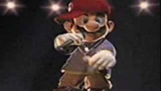 Gangster Mario singing Mr.Boombastic