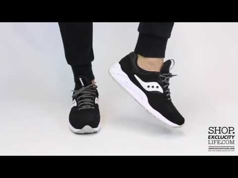 d92bd9c8 Saucony Grid 9000 Black - White On feet Video at Exclucity
