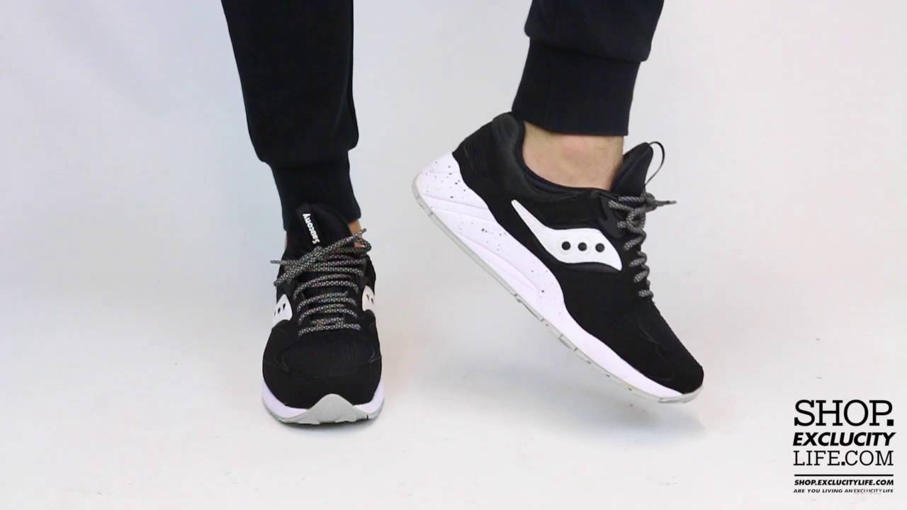 26f28a38 Saucony Grid 9000 Black - White On feet Video at Exclucity - YouTube