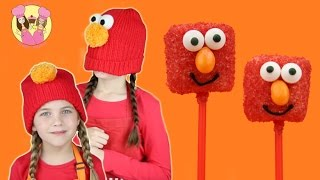 ELMO MARSHMALLOW POPS - Sesame Street Party Idea By Charli's Crafty Kitchen