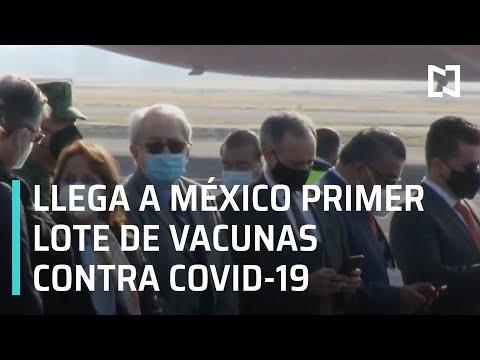 Llegan vacunas contra Covid-19 a México