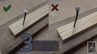 3 Stolarskie triki