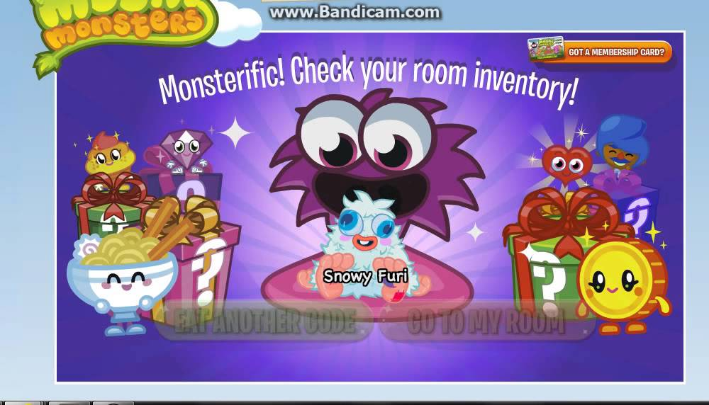 Moshi Monsters Codes 2013 YouTube