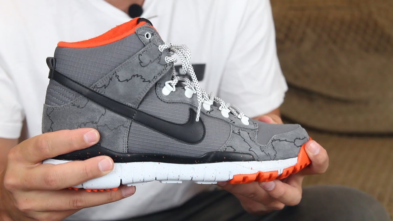 sneakers for cheap 00b92 493d1 ... coupon nike sb dunk high r r x poler shoes review tactics youtube b70d9  e4f40