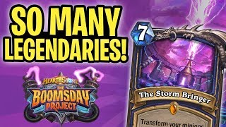 So MANY LEGENDARIES in one Turn! | The Storm Bringer Shaman | The Boomsday Project | Hearthstone