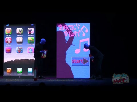 Blue Man Group GiPad Apple parody in new show at Universal Orlando
